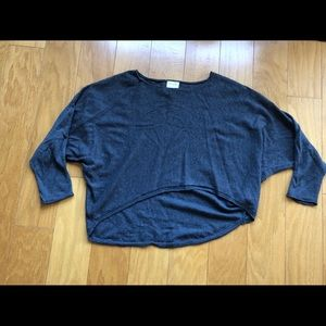 High-Low Hem Cropped Cashmere Sweater